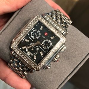 Michele Accessories - Michele deco watch with black face